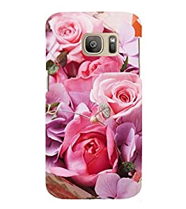 Vizagbeats Pink Roses Back Case Cover for Samsung Galaxy S7