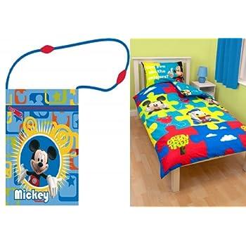 pas cher parure housse de couette linge lit enfant mickey disney sac a bandouliere acheter. Black Bedroom Furniture Sets. Home Design Ideas