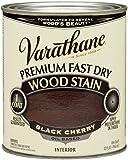 Rust-Oleum 262009 Varathane Premium Fast Dry Wood Stain, 32-Ounce, Black Cherry