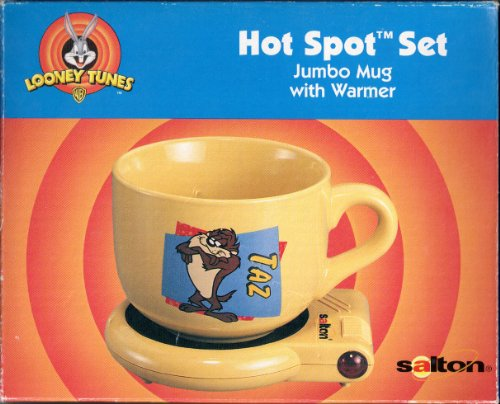 Looney Tunes TAZ (Tasmanian Devil) Hot Spot Set Cappuccino JUMBO Mug with Warmer (Salton Cappuccino compare prices)