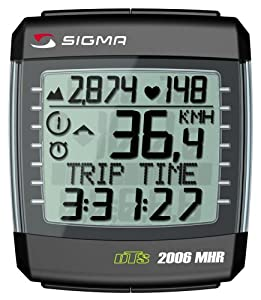 SIGMA BC2006MHR DTS Wireless Bicycle Speedometer with Heart Rate Monitor and Altimeter