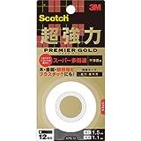 3M スコッチ 超強力両面テープ プレミアゴールド スーパー多用途 12mm×1.5m 1巻 KPS-12