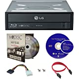 LG 16X Blu-ray M-Disc CD DVD BDXL BD Bluray Burner Drive with FREE 1pk Mdisc DVD + Cyberlink 3D Playback Burning Software + Cables & Mounting Screws WH16NS40
