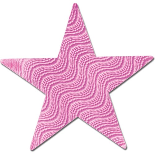 Embossed Foil Star Cutout (pink) Party Accessory  (1 count) - 1