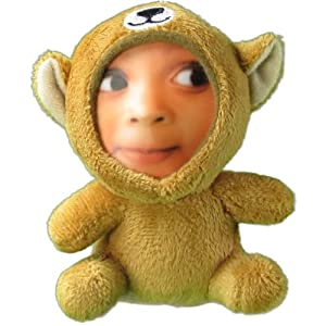 Custom Medium Monkey Stuffed Animal 3D Face Doll