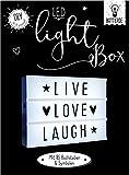 Dekoleuchte Lightbox A4 Leuchtkasten zum Selbergestalten LED...
