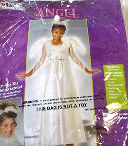Angel Child White Costume Dress Wings M 8-10 NIP