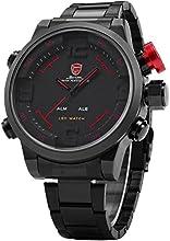 Shark LED Watch - Reloj de acero para hombre, SH105