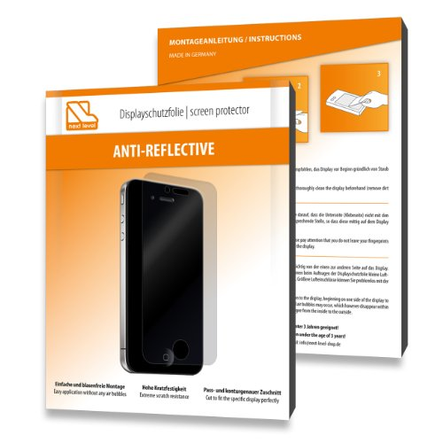 2 x Next Level Displayschutzfolie Anti Reflective für Samsung i8910 Omnia HD 8GB / i-8910 - Displayschutz antireflektierend und hartbeschichtet! PREMIUM QUALITÄT - Made in Germany