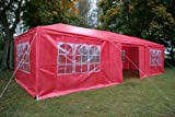 Airwave 3m x 9m Gazebo Party Tent Marquee Awning RED with Side Panels. 120g WATERPROOF Canopy and Powder Coated Steel Frame.