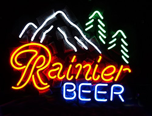 LED Neon Sign Rainier Beer Cool Lamp Night Light 16