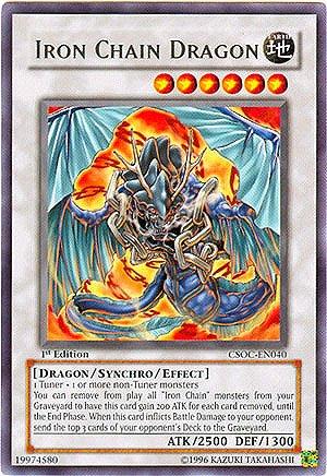 YuGiOh 5D's Crossroads of Chaos Single Card Iron Chain Dragon CSOC-EN040 Rare