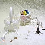 Alcoa Prime Casamento Bow Ceremony Satin Flower Basket Love Case Satin Bowknot And Rose Flower Basket Wedding...