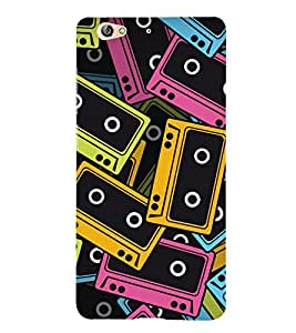 Music Tapes 3D Hard Polycarbonate Designer Back Case Cover for Gionee S6