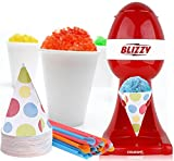 BLIZZY Snow Cone Maker Set - Includes Ice Shaver, Cups, and Straws