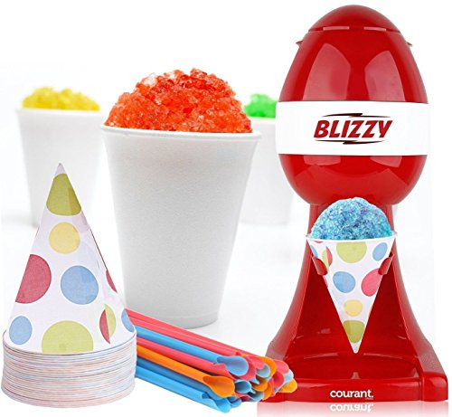 BLIZZY Snow Cone Maker Set - Includes Ice Shaver, Cups, and Straws (Snow Cone & Ice Shavers compare prices)