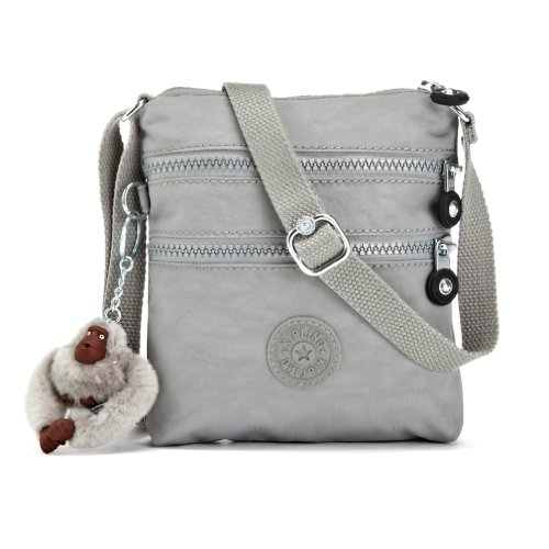 Amazon.com: Kipling Alvar XS Cross Body Minibag in Silver Grey