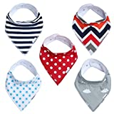 Baby-Bandana-Drool-Bibs-for-Boys-Girls-Unisex-5-Pack-Absorbent-Cotton-Modern-Baby-Set