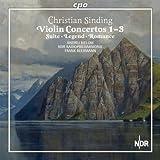 クリスティアン・シンディング:ヴァイオリンと管弦楽のための作品集