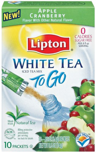 Buy Lipton White Tea Iced Tea Mix To-Go, Apple Cranberry,  10-Count Boxes (Pack of 12) (Lipton, Health & Personal Care, Products, Food & Snacks, Beverages, Tea, White Teas)