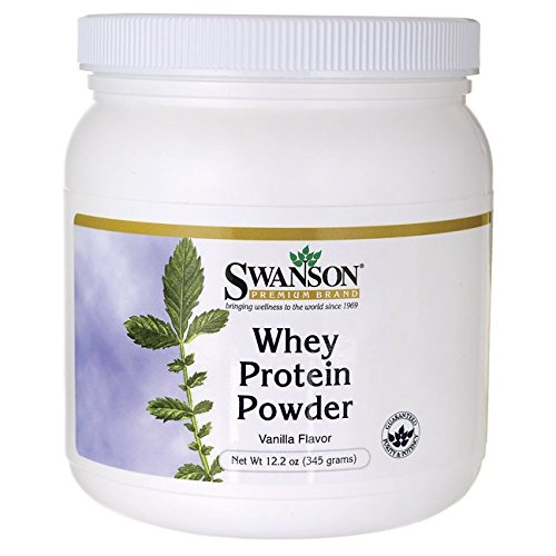 Whey Protein Powder 12.2 oz (345 grams) Powder by Swanson Premium (vanilla)