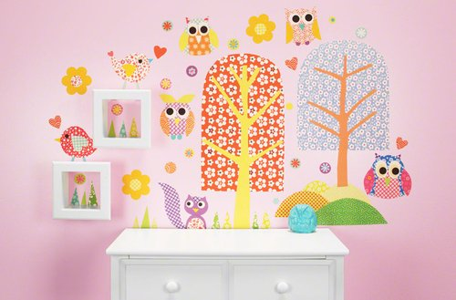Oopsy Daisy 54 by 30-Inch Peel and Place Patterned Park Medium by Rachel Taylor, Medium