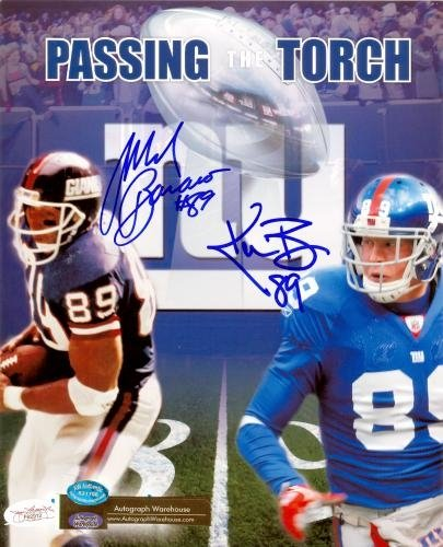 Kevin Boss and Mark Bavaro Autographed/Hand Signed 8x10 Photo (New York Giants) (James Spence Authen at Amazon.com