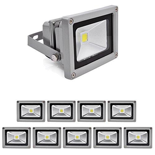 10X 10W Led Flood Light Floodlight Lamps Light Outdoor Spotlight High Power Long Life Ip65 White 230V Smd