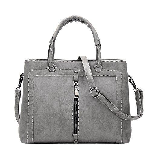 Koson-Man, Borsa tote donna, Grey (grigio) - KMUKHB128-02
