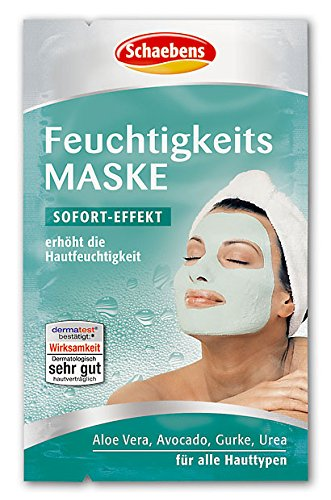 Schaebens, Maschera idratante per il viso, 10 confezioni da 10 ml