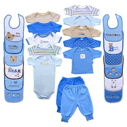Baby 24-Piece Outfit Gift Cube Blue 0-6M