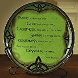 Abbey Press Irish Platter with Easel - St Patricks Day Blessing Spirit 52707-ABBEY