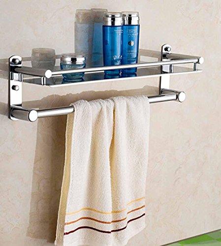 BBSLT-Bagno ripiani in acciaio inox, pensili di bagno vassoio metallo-bagno doccia gel bottiglia di stoccaggio rack , B