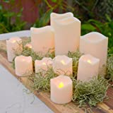 12 Assorted Outdoor Battery Candles - Amber and Color Changing LED options