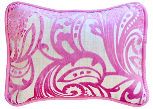 New Arrivals French Quarter Accent Pillow, Pink/Khaki