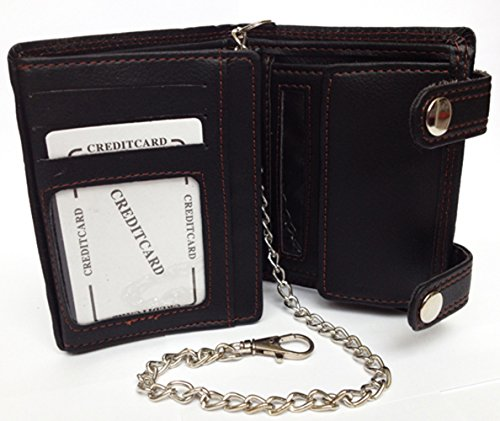 black-mens-gents-quality-wallet-soft-faux-leather-purse-with-chain