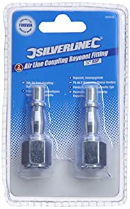 Silverline 583243 Air Line Coupling Bayonet Female Thread 2-Pack 1/4-inch BSP