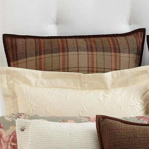 Ralph Lauren Shetland Manor Plaid European Pillow Sham