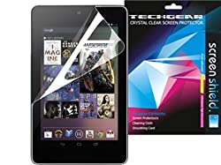 **PACK OF 2** GOOGLE NEXUS 7 Tablet / ASUS GOOGLE NEXUS 7 / 7 Inch CLEAR Screen Protector with cleaning cloth - TECHGEAR