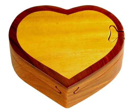 Cheap Fun Heart – Secret Wooden Puzzle Box (B002P8Z5RI)