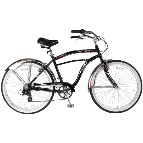 Victory Men's Touring Cruiser Bike (Black/Gray, 26 X 19-Inch)