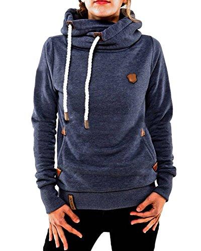 Minetom-Femme-Hiver-Sweats--Capuche-Casual-Pull-Hauts-Hoodie-Sweatshirt-Pullover-Tops-Jumper