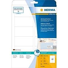 Herma 8842 Étiquettes jet d'encre 88,9 x 46,6 A4 300 pièces Blanc