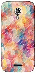Snoogg cool pattern Designer Protective Back Case Cover For Micromax A117