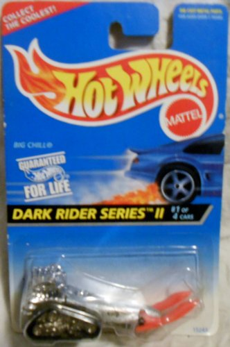 Hot Wheels - 1995 - Big Chill - Dark Rider Series II - Silver Metallic - Collector #400 - Limited Edition - Collectible - 1