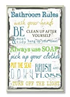 "The Stupell Home Décor Collection ""Bathroom Rules"" Typographic Wall Plaque by The Stupell Home Décor Collection"