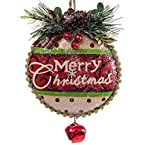 Glittered Flat Ornament with Bell