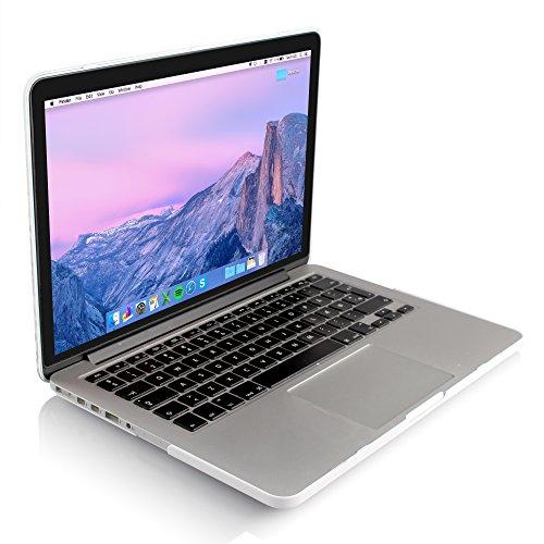 iDOO { Für MacBook Pro Retina 13 Zoll - Ohne CD-Laufwerk } Weiß / White - Marmor Muster Hülle