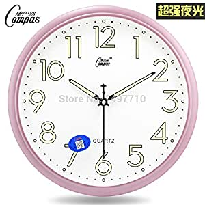 Genuine Fasion Luminous Watches Mute Bedroom Living Room Wall Clock Accurate Travel