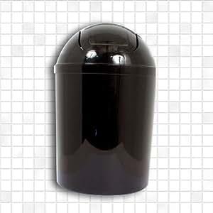 Kosmetikeimer Abfalleimer 5 Liter mit Schwingdeckel Material Kunststoff Farbe Schwarz Sehr Praktisch für alle Wohn und Bürobereiche